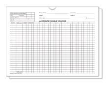 White 5470 Accounts Payable Voucher Jackets DASP-5474-WHITE