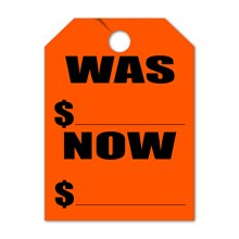WAS NOW Mirror Hang Tags FL DVT280-WNFL RED