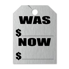 WAS NOW SILVER Mirror Hang Tags DVT280-WNSI