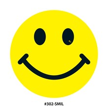 Yellow and Black Smiley Face DVT302-SMIL