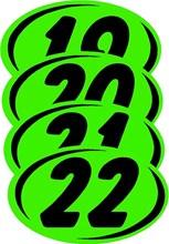 Green on Black Duo Digit DVT334-22