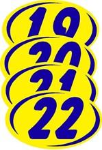Blue on Yellow Duo Digit DVT336