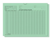 Green 5470 Accounts Payable Voucher Jackets DASP-5472-GREEN