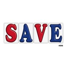 Jumbo Underhood Save Signs Red DVT-896-SAVE RED