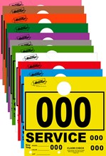 3 Digit Service Dispatch Numbers. Available In 11 Colors DVT-261-3