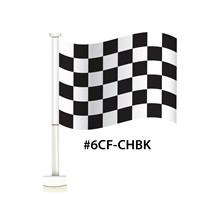 Black & White Checker Single Pane Clip-On Flag DVT-6CF-CHBK