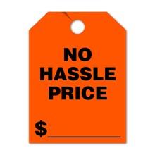 NO HASSLE PRICE Mirror Hang Tags FL DVT280-NH-FL RED