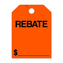 REBATE Mirror Hang Tags FL DVT280-RBFL RED