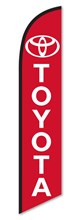 Toyota Red Swooper Flag DASP-4760-110