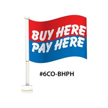 Buy Here Pay Here Double Pane Clip-On Flag DVT-6CO-BHPH