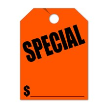 SPECIAL Mirror Hang Tags FL DVT280-SPFL RED