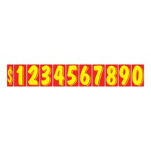 """7 1/2"""" Yellow on Red Windshield Numbers DVT356-$"""