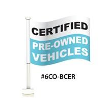 Certified Blue Double Pane Clip-On Flag DVT-6CO-BCER