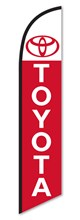 Toyota Red & White Swooper Flag DASP-4760-105