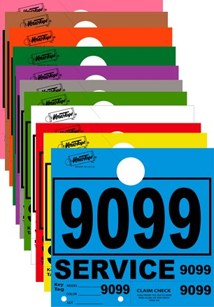 4 Digit 1000 Series Service Dispatch Numbers. Available In 11 Colors DVT-261-4