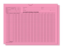 Pink 5470 Accounts Payable Voucher Jackets DASP-5473-PINK