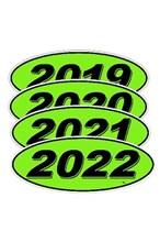 Black on Green Oval Model Year DVT320