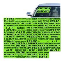 DOWN Green and Black Windshield Slogans DVT323